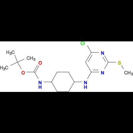 N-[4-(6-Chloro-2-methylsulfanyl-pyrimidin-4-ylamino)-cyclohexyl]-carbamic acid tert-butyl ester