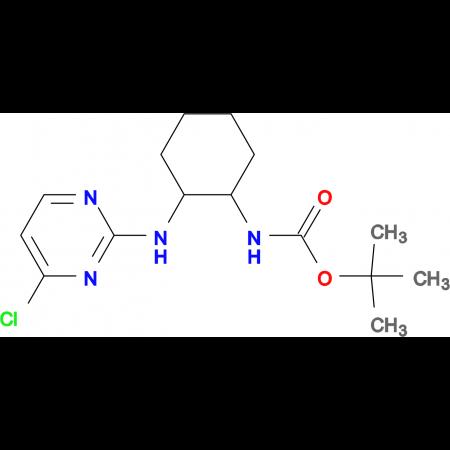 [2-(4-Chloro-pyrimidin-2-ylamino)-cyclohexyl]-carbamic acid tert-butyl ester