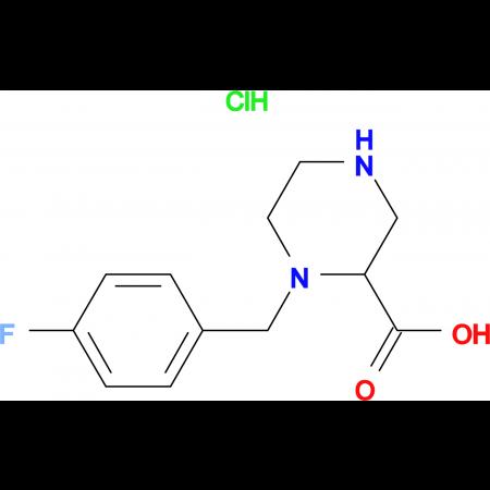 1-(4-Fluoro-benzyl)-piperazine-2-carboxylic acid hydrochloride