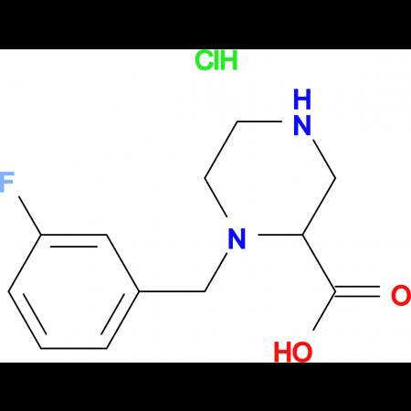 1-(3-Fluoro-benzyl)-piperazine-2-carboxylic acid hydrochloride