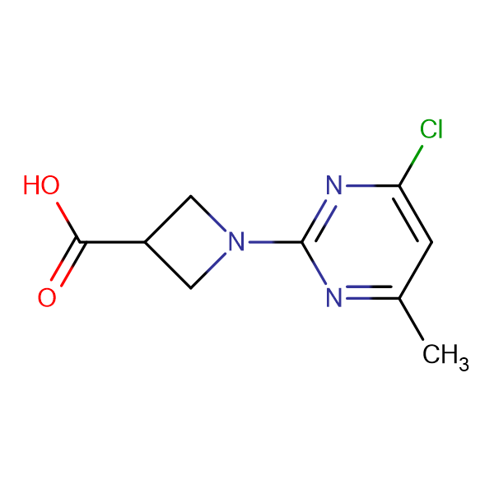 1-(4-Chloro-6-methyl-pyrimidin-2-yl)-azetidine-3-carboxylic acid