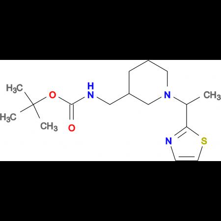 [1-(1-Thiazol-2-yl-ethyl)-piperidin-3-ylmethyl]-carbamic acid tert-butyl ester