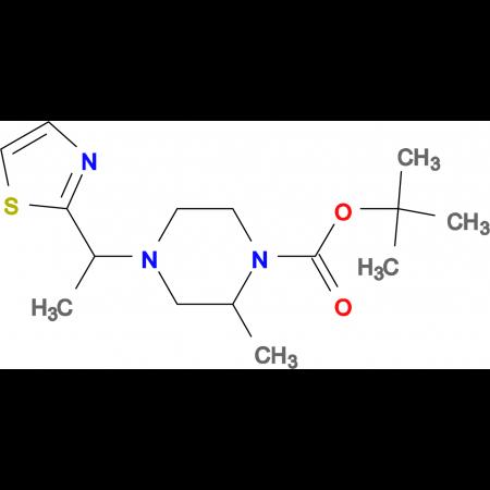 2-Methyl-4-(1-thiazol-2-yl-ethyl)-piperazine-1-carboxylic acid tert-butyl ester