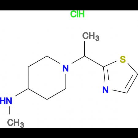 Methyl-[1-(1-thiazol-2-yl-ethyl)-piperidin-4-yl]-amine hydrochloride