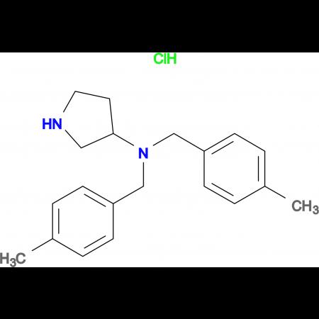 Bis-(4-methyl-benzyl)-pyrrolidin-3-yl-amine hydrochloride