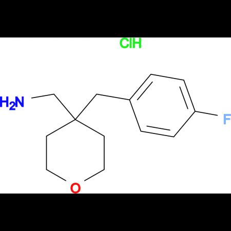 4-[(4-Fluorophenyl)methyl]oxan-4-ylmethanamine hydrochloride