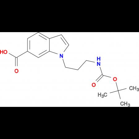 1-[3-[(tert-Butoxycarbonyl)amino]propyl]-1H-indole-6-carboxylic acid