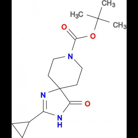 tert-Butyl 2-cyclopropyl-4-oxo-1,3,8-triazaspiro[4.5]dec-1-ene-8-carboxylate