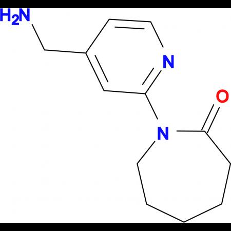 1-[4-(Aminomethyl)pyridin-2-yl]azepan-2-one