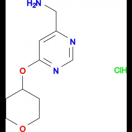 [6-(Tetrahydro-2H-pyran-4-yloxy)pyrimidin-4-yl]methanamine hydrochloride