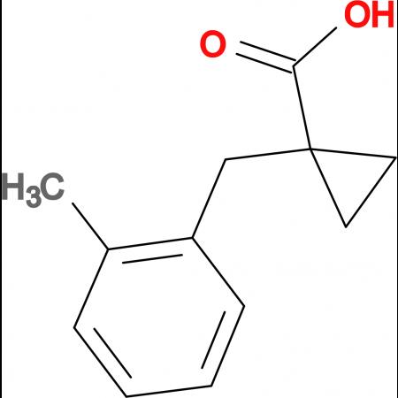 1-[(2-Methylphenyl)methyl]cyclopropane-1-carboxylic acid