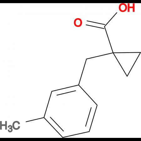1-[(3-Methylphenyl)methyl]cyclopropane-1-carboxylic acid