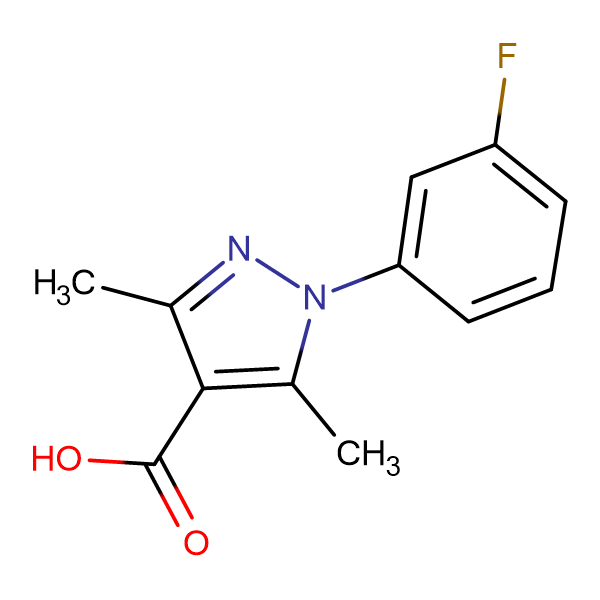 1-(3-Fluorophenyl)-3,5-dimethyl-1H-pyrazole-4-carboxylic acid