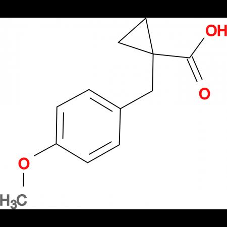 1-[(4-Methoxyphenyl)methyl]cyclopropane-1-carboxylic acid
