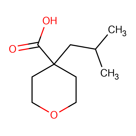 4-(2-Methylpropyl)oxane-4-carboxylic acid