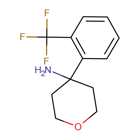 4-[2-(Trifluoromethyl)phenyl]oxan-4-amine