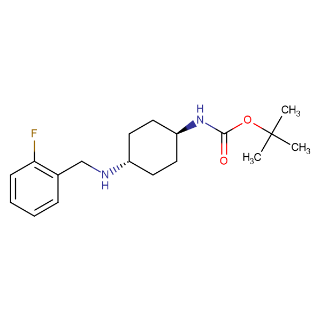 tert-Butyl (1R*,4R*)-4-(2-fluorobenzylamino)cyclohexylcarbamate