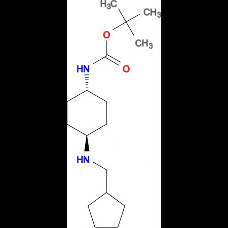 tert-Butyl (1R*,4R*)-4-[(cyclopentylmethyl)amino]cyclohexylcarbamate