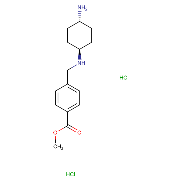 Methyl 4-[(1R*,4R*)-4-aminocyclohexylamino]methyl-benzoate dihydrochloride