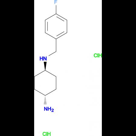 (1R*,4R*)-N1-(4-Fluorobenzyl)cyclohexane-1,4-diamine dihydrochloride