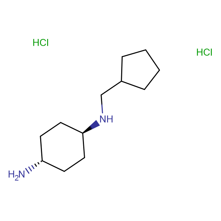 (1R*,4R*)-N1-(Cyclopentylmethyl)cyclohexane-1,4-diamine dihydrochloride