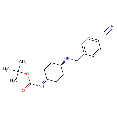 tert-Butyl (1R*,4R*)-4-(4-cyanobenzylamino)cyclohexylcarbamate