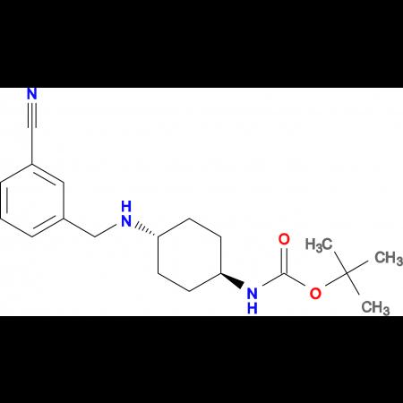 tert-Butyl (1R*,4R*)-4-(3-cyanobenzylamino)cyclohexylcarbamate