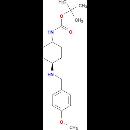 tert-Butyl (1R*,4R*)-4-(4-methoxybenzylamino)cyclohexylcarbamate