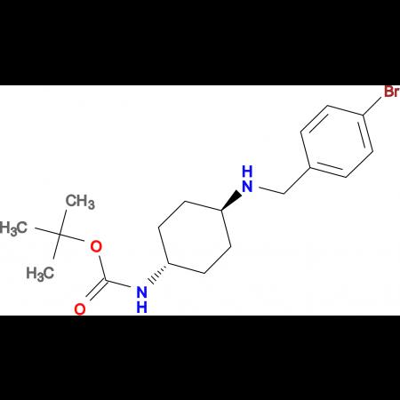 tert-Butyl (1R*,4R*)-4-(4-bromobenzylamino)cyclohexylcarbamate