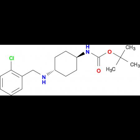 tert-Butyl (1R*,4R*)-4-(2-chlorobenzylamino)cyclohexylcarbamate