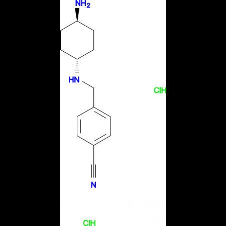 4-[(1R*,4R*)-4-Aminocyclohexylamino]methyl-benzonitrile dihydrochloride