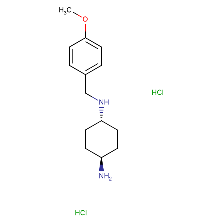 (1R*,4R*)-N1-(4-Methoxybenzyl)cyclohexane-1,4-diamine dihydrochloride