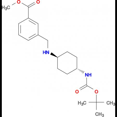 Methyl 3-[(1R*,4R*)-4-(tert-butoxycarbonylamino)-cyclohexylamino]methyl]benzoate