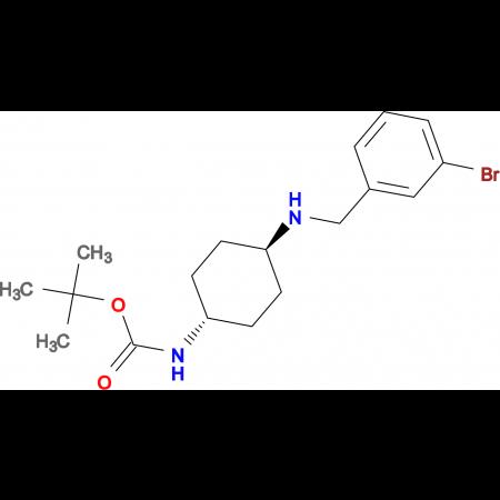 tert-Butyl (1R*,4R*)-4-(3-bromobenzylamino)-cyclohexylcarbamate