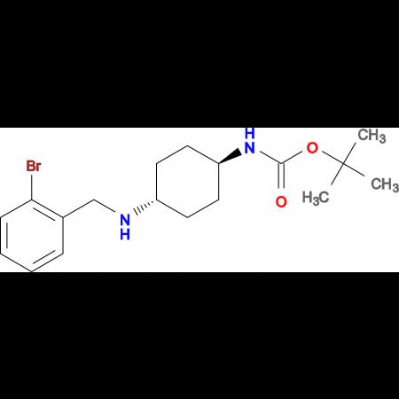 tert-Butyl (1R*,4R*)-4-(2-bromobenzylamino)-cyclohexylcarbamate