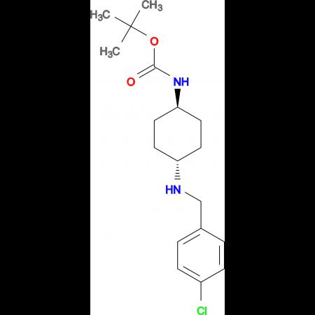 tert-Butyl (1R*,4R*)-4-(4-chlorobenzylamino)-cyclohexylcarbamate