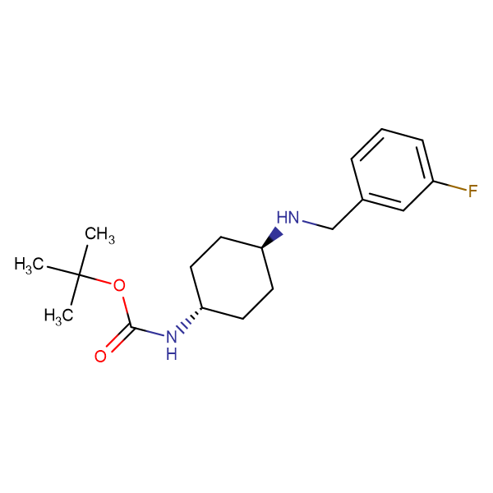 tert-Butyl (1R*,4R*)-4-(3-fluorobenzylamino)-cyclohexylcarbamate