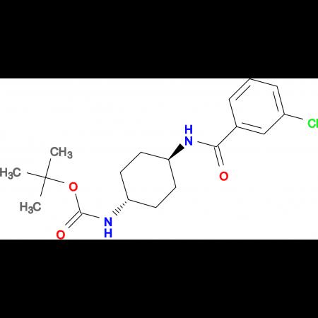 tert-Butyl (1R*,4R*)-4-(3-chlorobenzamido)-cyclohexylcarbamate