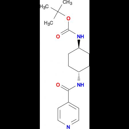 tert-Butyl (1R*,4R*)-4-(isonicotinamido)cyclohexylcarbamate