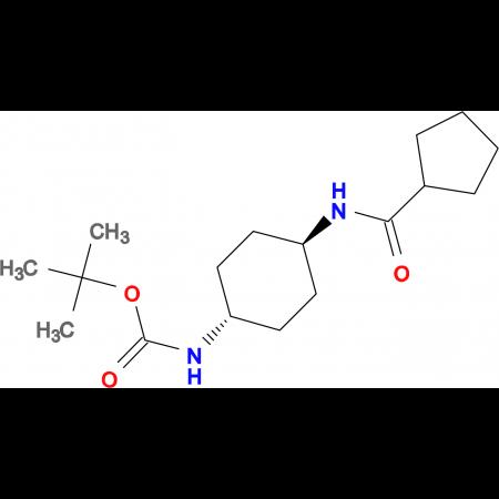 tert-Butyl (1R*,4R*)-4-(cyclopentanecarbonylamino)cyclohexylcarbamate