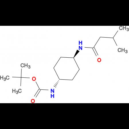 tert-Butyl (1R*,4R*)-4-(3-methylbutanamido)cyclohexylcarbamate