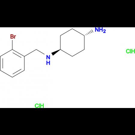 (1R*,4R*)-N1-(2-Bromobenzyl)cyclohexane-1,4-diamine dihydrochloride