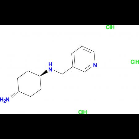 (1R*,4R*)-N1-(Pyridin-3-ylmethyl)cyclohexane-1,4-diamine trihydrochloride