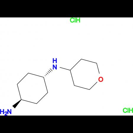 (1R*,4R*)-N1-(Tetrahydro-2H-pyran-4-yl)cyclohexane-1,4-diamine dihydrochloride
