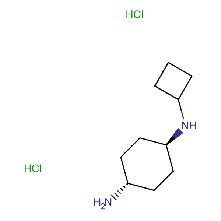 (1R*,4R*)-N1-Cyclobutylcyclohexane-1,4-diamine dihydrochloride