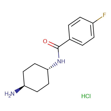 N-[(1R*,4R*)-4-Aminocyclohexyl]-4-fluorobenzamide hydrochloride