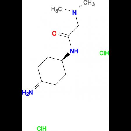 N-[(1R*,4R*)-4-Aminocyclohexyl]-2-(dimethylamino)acetamide dihydrochloride