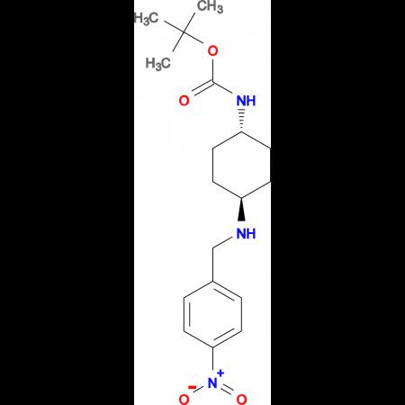 tert-Butyl (1R*,4R*)-4-(4-nitrobenzylamino)cyclohexylcarbamate
