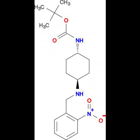 tert-Butyl (1R*,4R*)-4-(2-nitrobenzylamino)cyclohexylcarbamate