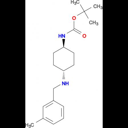 tert-Butyl (1R*,4R*)-4-(3-methylbenzylamino)cyclohexylcarbamate